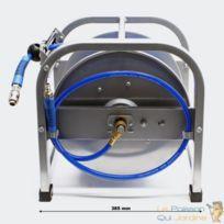 Enrouleur Dévidoir Automatique Tuyau Pneumatique 30 Mètres Bleu