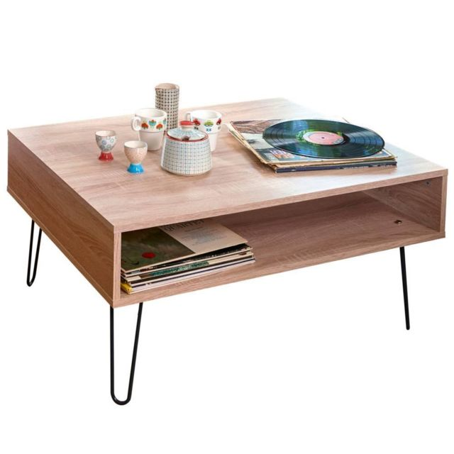 Inside 75 Table basse design scandinave Lackberg chêne naturel