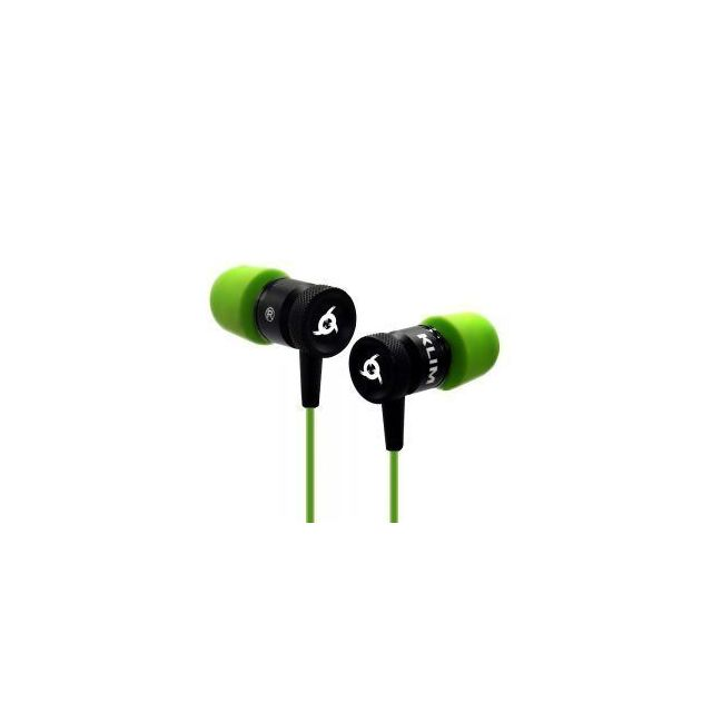 KLIM Ecouteurs gaming intra-auriculaire FUSION vert Ecouteurs gaming intra-auriculaire FUSION vert