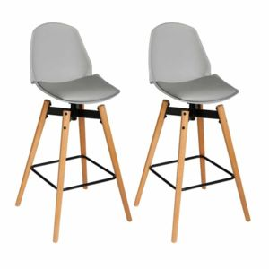 paris prix lot de 2 tabouret de bar wilio 104cm gris pas cher achat vente bars. Black Bedroom Furniture Sets. Home Design Ideas