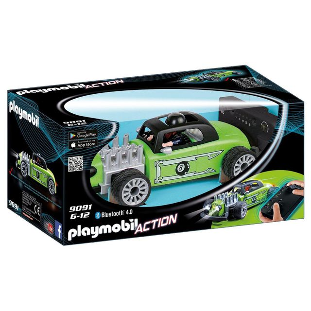 playmobil 9091 voiture de course verte radiocommand e pas cher achat vente playmobil. Black Bedroom Furniture Sets. Home Design Ideas