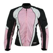 aba7af4481 Karno-motorsport - Kt007 Blouson moto textile Femme cintré rose Karno  Typhoon - doublure hiver