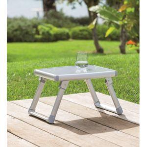 Hesp ride table d 39 appoint pliante d 39 ext rieur gris volta for Table d appoint exterieur