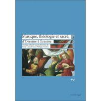 Ambronay Editions - musique, théologie et sacré, d'Oresme à Erasme