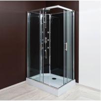 Aqua + - Cabine de douche Rectangulaire Selia hydro 110x80 cm