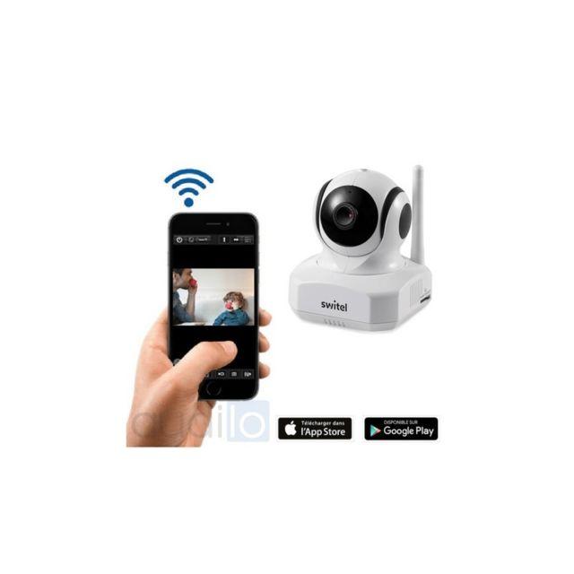 switel cam ra wifi avec capteurs d 39 alarme pour la maison bsw220 pas cher achat vente. Black Bedroom Furniture Sets. Home Design Ideas