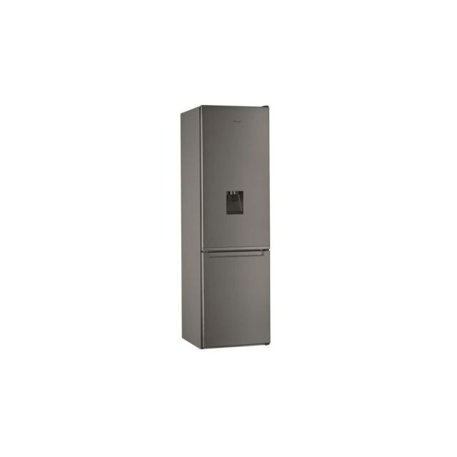 Whirlpool W7911IOXAQUA - Refrigerateur combine - 368 L - Total NoFrost - A+ - L60cm x H201cm - Inox