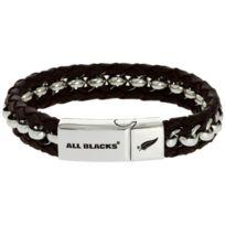 All Blacks Bijoux - Bracelet All Blacks 682044 - Bracelet Marron Acier Homme