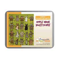 Pomegranate - Kathy Beynette - Owls & Pussycats: 100 Piece Puzzle