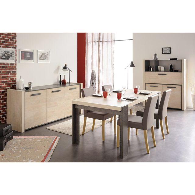 Comforium - Lot de 2 chaises moderne pour salle à manger coloris gris foncé