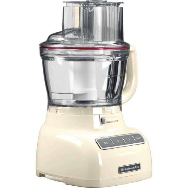 Kitchenaid robot ménager multifonction de 3,1L 300W crème argent