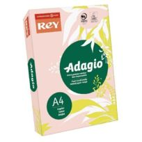 Rey - 336023 Adagio Ramette de 500 feuilles papier A4 pour Copieur/Laser/Jet d'encre 80 g Rose Lot de 5