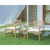 Table jardin acacia - catalogue 2019 - [RueDuCommerce - Carrefour]