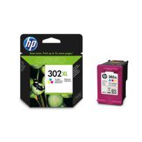 HP - Pack de cartouches d'encre Couleur 302 XL - F6U67AE