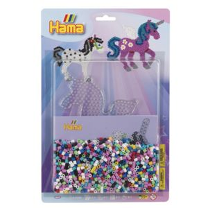 hama kit perles repasser grand mod le licorne pas. Black Bedroom Furniture Sets. Home Design Ideas