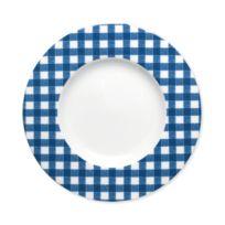 Bruno Evrard - Assiette dessert en porcelaine 23cm - Lot de 6 - Porcelaine - Bleu foncé