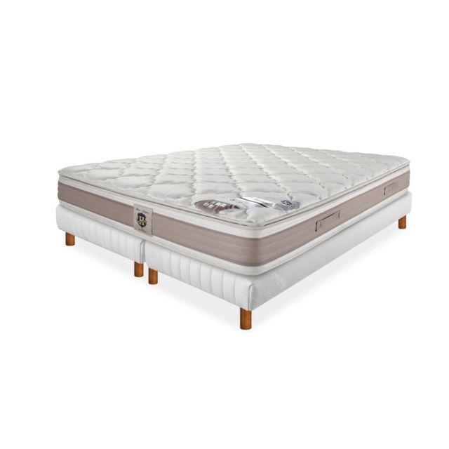 literie de paris ensemble matelas ressort et sommier le saumur 2x80 160x200 pas cher achat. Black Bedroom Furniture Sets. Home Design Ideas