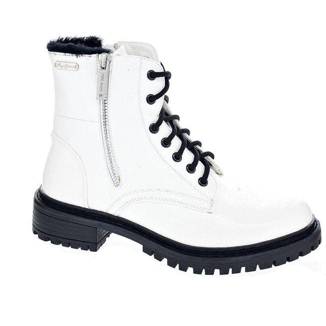 Collie Jeans Modele Chaussures Suri Bottine Pepe Blanc Femme Pas WdFXUqnnIx