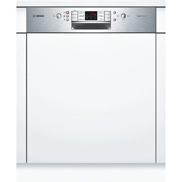 Bosch lave-vaisselle 60cm 13 couverts a++ intégrable avec bandeau apparent inox - smi63n15eu