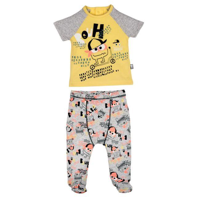 aa818bc9418b3 Petit Beguin - Pyjama bébé 2 pièces avec pieds Bouhh - Taille - 9 mois