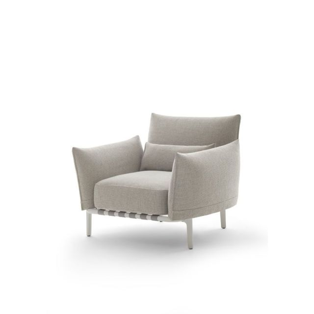 Dedon Brea Lounge Chair - Cool Taupe - blanc
