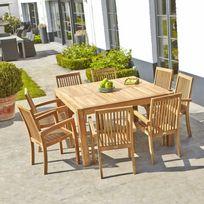 salon jardin bois - Achat salon jardin bois pas cher - Rue du Commerce