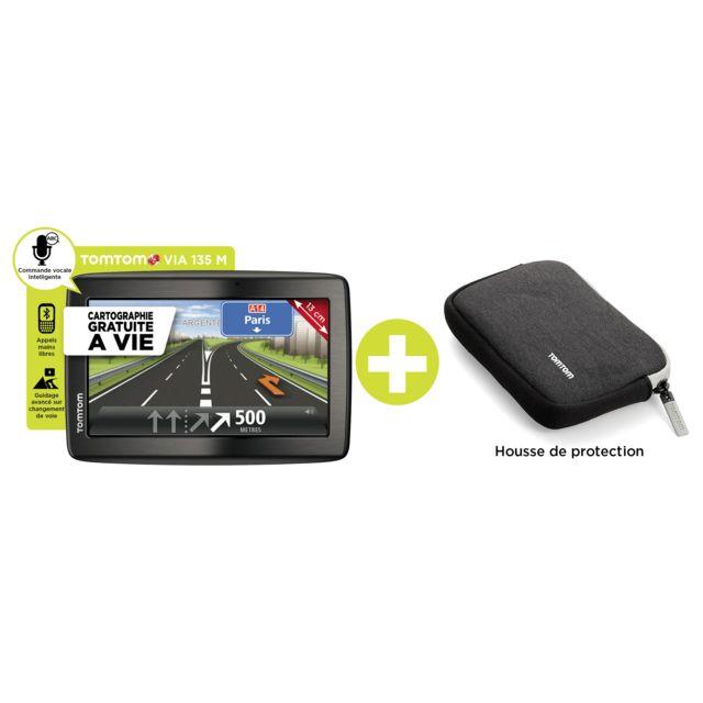 TOMTOM Pack GPS Via 135M Eur 45 + Housse - Noir