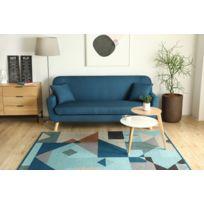 soldes concept usine isko canap scandinave 3 places gris anthracite pouf x 203cm x. Black Bedroom Furniture Sets. Home Design Ideas