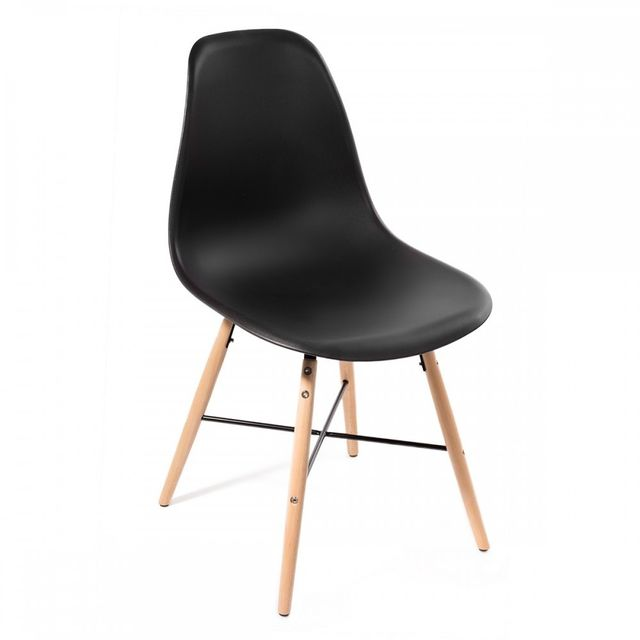 Homekraft Lot 4 chaises design Art Voster Top qualité inspiré Eiffel Noir