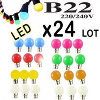 Revenergie - Lot de 24 ampoules couleurs Led Guirlande B22 type Guinguette