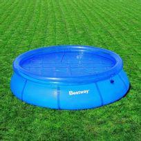 Best Way - Bâche été pour piscine autoportante ronde de 244 cm de diamètre