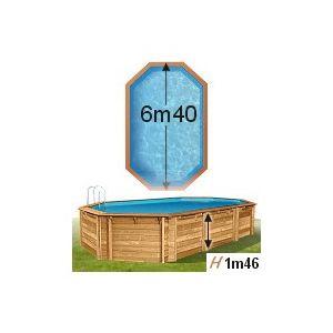 piscine center o 39 clair piscine cerland bois weva 644 x 405 x 146 cm pas cher achat vente. Black Bedroom Furniture Sets. Home Design Ideas