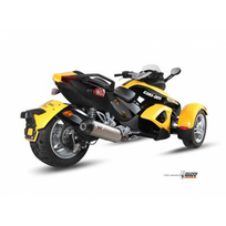 Mivv - Silencieux oval titane/casquette carbone can-am spyder 990 - Mvqbo005SNC