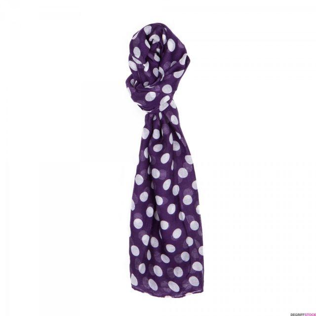 Manoukian - Foulard à pois violet et blanc Scarf femme - pas cher Achat    Vente Echarpes, foulards - RueDuCommerce 9a5228ed3dc