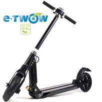 E-twow - Trottinette électrique forte autonomie de 35 km Booster S2 Etwow noir pliable