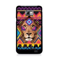 Evetane - Coque Lion Aztèque pour Samsung Galaxy S2