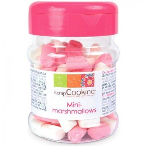 Scrapcooking Pot de mini marshmallows roses et blancs pour pâtisserie de la marque