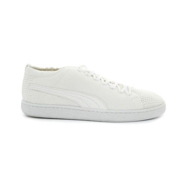 best service 4f849 641e2 Puma - Baskets   sneakers evoKNIT 3D - blanc - pas cher Achat   Vente Baskets  homme - RueDuCommerce