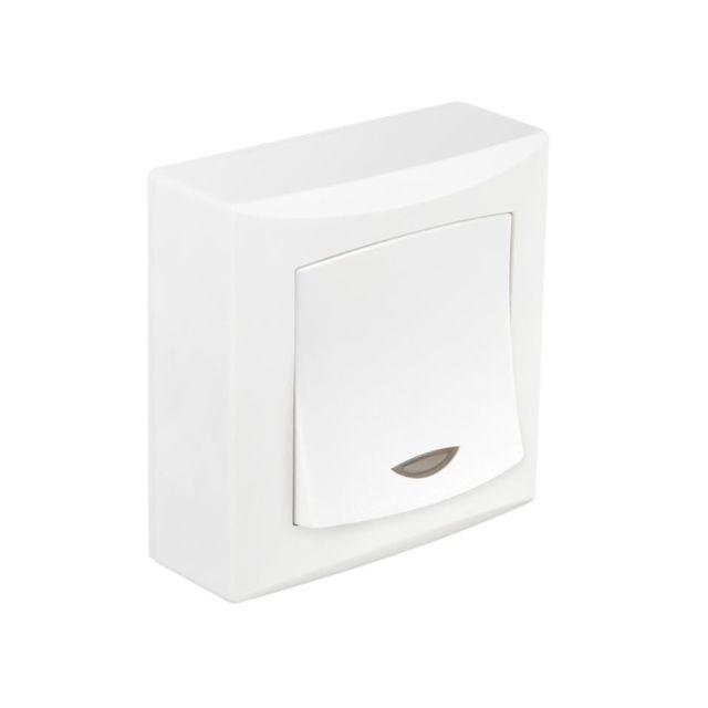 debflex emeraude interrupteur bouton poussoir avec voyant pas cher achat vente. Black Bedroom Furniture Sets. Home Design Ideas