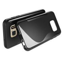 Cabling - Etui en silicone noir pour Samsung Galaxy S7 G930 - Coque bimatière flexible type S/line Noir pour Samsung Galaxy S7 G930