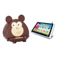 """Clementoni - Pack Tablette Enfant 8"""" Clempad Dual Xl 8Go avec enceinte Bluetooth Kitsound Monkey"""