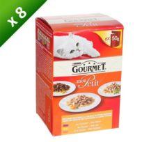 Gourmet - Petit Repas Multi viandes - 6x50g x8 Pour chat adulte