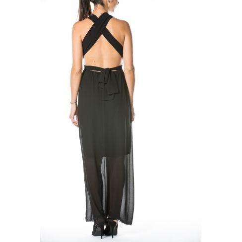 1335a17cf2923 Princesse Boutique - Robe longue Noir dos croisé - pas cher Achat ...