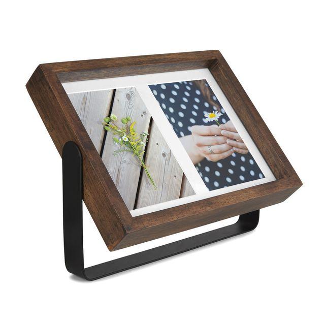 Sologne Cadre photo pivotante à 360° en bois et métal modèle 2 vues Axis