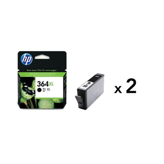 HP - Pack de 2 cartouches d'encre 364 Noir