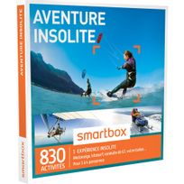 Smartbox - Aventure insolite - 830 activités : motoneige, kitesurf, conduite de Gt, vol en ballon - Coffret Cadeau