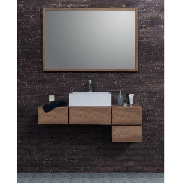 bois dessus bois dessous ensemble de salle de bain en bois de teck meuble de salle de bain. Black Bedroom Furniture Sets. Home Design Ideas