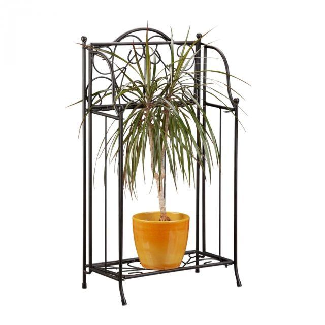 Autre - Etagère à fleurs en métal support plantes 65 x 34 cm 2013117