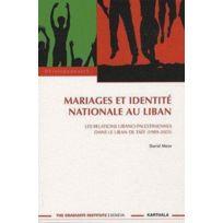 Karthala - mariages et identité nationale au Liban ; les relations libano-palestiniennes dans le Liban de Taef