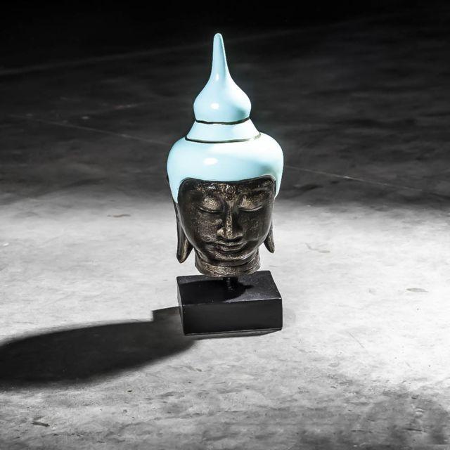 wanda collection t te bouddha petit mod le bleu turquoise 40 cm pas cher achat vente. Black Bedroom Furniture Sets. Home Design Ideas